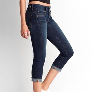 American Eagle Dark Wash Artist Crop Skinny Jeans